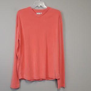 Ted Baker London Coral Long Sleeve V Neck Shirt